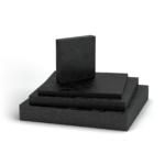 SA-47 masticated rubber bearing pads used random oriented fibers (ROF) to provide enhanced compressive strength when compared to unreinforced materials.