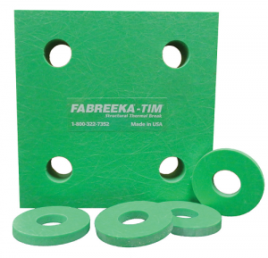 fabreeka plate and washer, structural thermal break material, TIM, structural break plate and washer