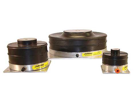 Luftfeder, Gummi-Luftfeder, Schwingungsisolierung, Schwingungsisolator,