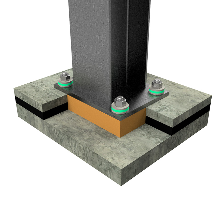 Fabreeka-TIM RF Structural Column Base