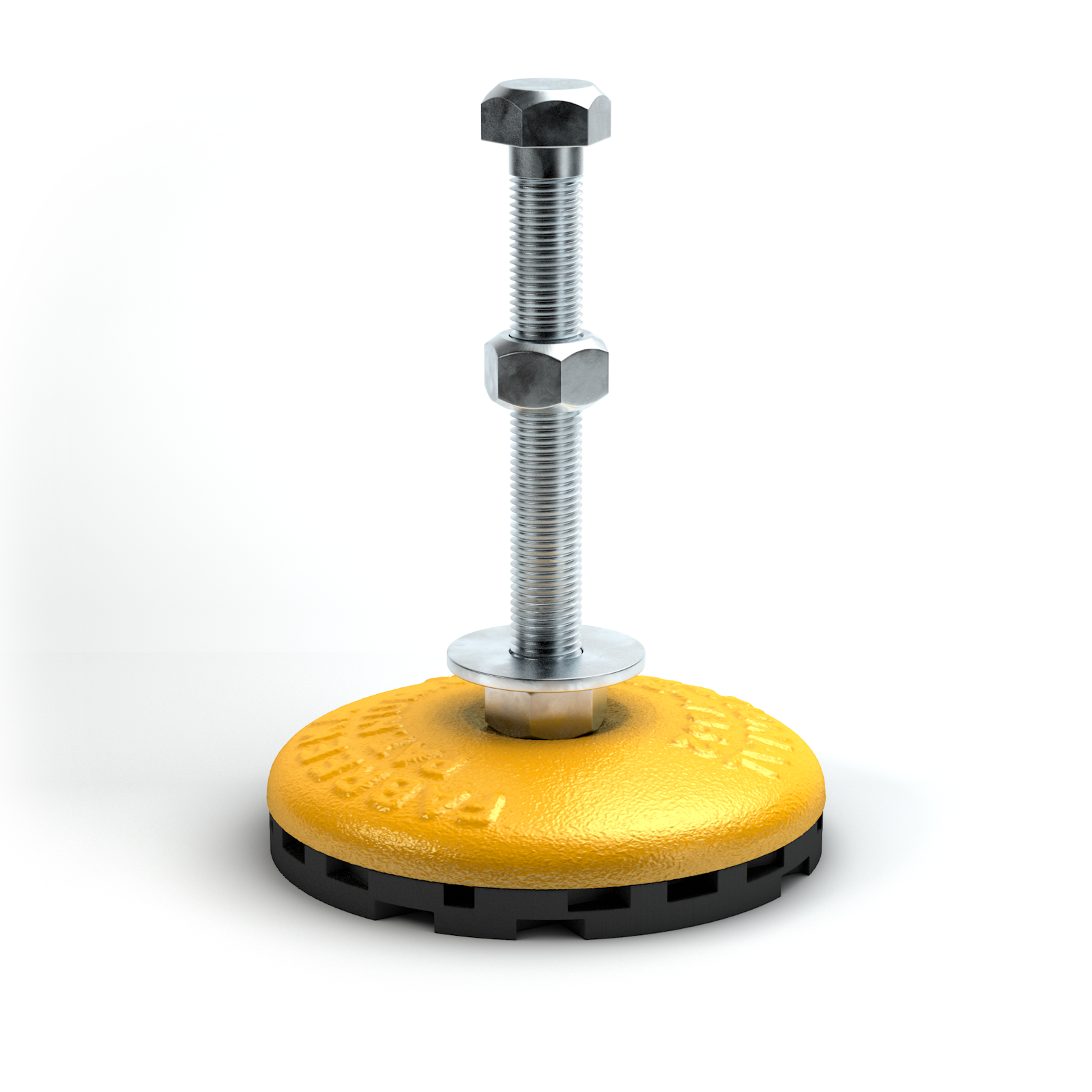 Fabcel Lev-L mounts are levelling mounts for machinery and equipment