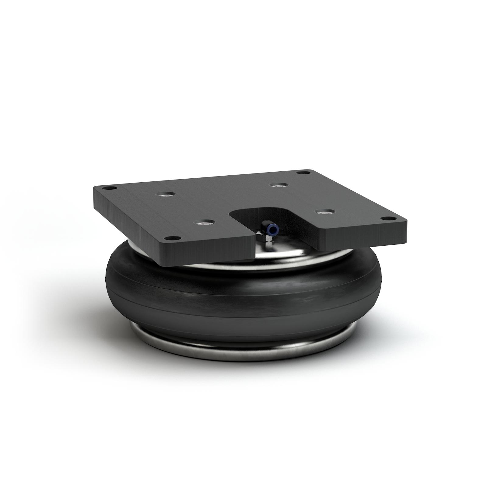 Produktbeispiel: mit Adapterplatte und Innenanschlag für den Einsatz in Prüfstandsaufbauten